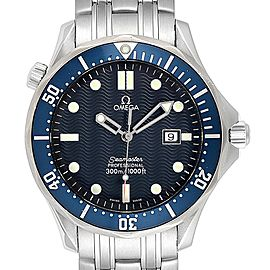 Omega Seamaster 41 Bond Blue Wave Dial Steel Mens Watch 2541.80.00