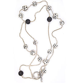 Charles Krypell 4-6834-SBS Sterling Silver Black Sapphire Necklace