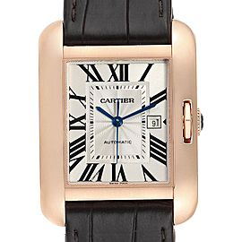 Cartier Tank Anglaise Rose Gold Brown Strap Ladies Watch W5310005