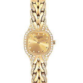 Patek Philippe La Flamme 18k Yellow Gold Diamond Ladies Watch 4715