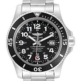 Breitling Superocean II 44 Black Dial Mens Watch A17392 Box