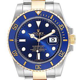 Rolex Submariner Steel 18K Yellow Gold Blue Dial Watch 116613
