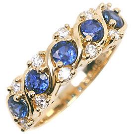 MIKIMOTO 18k yellow gold/diamond/sapphire Ring