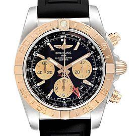 Breitling Chronomat Evolution 44 GMT Steel Rose Gold Mens Watch CB0420