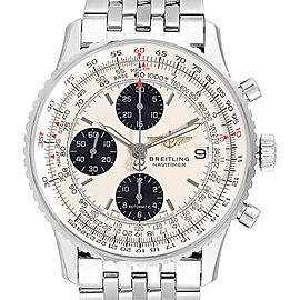 Breitling Navitimer Heritage Silver Panda Dial Steel Mens Watch A13324