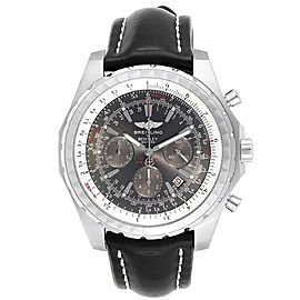 Breitling Bentley Grey Dial Chronograph Steel Mens Watch A25362