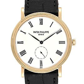Patek Philippe Calatrava Yellow Gold Automatic Watch 5119 Box Papers