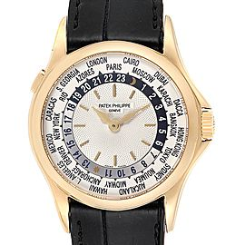 Patek Philippe World Time Complications Yellow Gold Mens Watch 5110