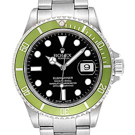 Rolex Submariner Green 50th Anniversary Flat 4 Mens Watch 16610LV