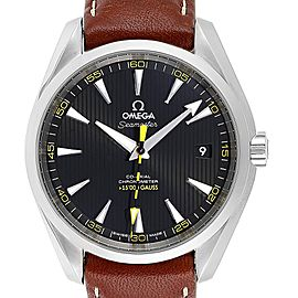 Omega DeVille Co-Axial 5000 Gauss Yellow Hand Watch 231.12.42.21.01.001