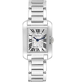 Cartier Tank Anglaise Small Silver Dial Steel Ladies Watch W5310022