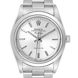Rolex Air King 34mm Silver Dial Oyster Bracelet Steel Mens Watch 14000