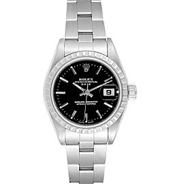 Rolex Date 26 Black Dial Oyster Bracelet Ladies Watch 79240