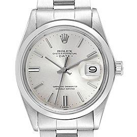 Rolex Date Silver Dial Domed Bezel Vintage Mens Watch 1500