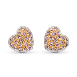 Leibish 18K White and Rose Gold with 0.15ctw Diamond Earrings