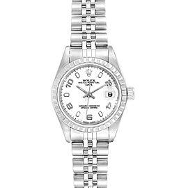Rolex Date White Dial Jubilee Bracelet Ladies Watch 79240 Box
