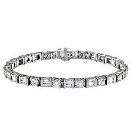 Platinum 7.59ctw Diamond Bracelet