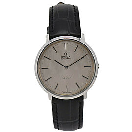 Vintage OMEGA Deville Stainless/Leather Cal.711 Automatic Men's Watch