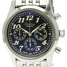 Polished BREITLING Navitimer Premier Steel Automatic Mens Watch A40035