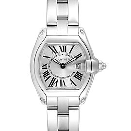 Cartier Roadster Silver Dial Roman Numerals Steel Ladies Watch W62016V3