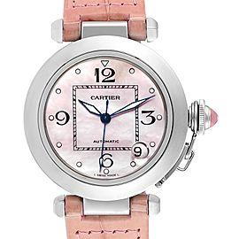 Cartier Pasha C Medium Pink Mother of Pearl Limited Edition Watch 2324