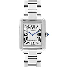 Cartier Tank Solo Silver Dial Small Steel Ladies Watch W5200013