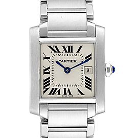 Cartier Tank Francaise Midsize 25mm Steel Ladies Watch W51011Q3