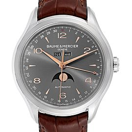 Baume Mercier Classima Executive Clifton Grey Dial Watch 10213 Unworn
