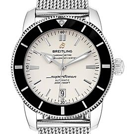 Breitling Superocean Heritage 46 Mesh Bracelet Watch AB2020 Box Papers