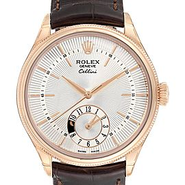 Rolex Cellini Dual Time Everose Rose Gold Automatic Mens Watch Unworn