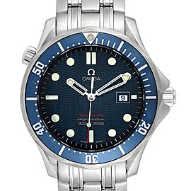 Omega Seamaster Bond 300M Blue Wave Dial Mens Watch 2221.80.00