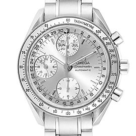 Omega Speedmaster Day Date Chrono Silver Dial Watch 3523.30.00 Card