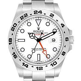 Rolex Explorer II 42mm Orange Hand Steel Mens Watch 216570 Unworn