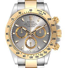 Rolex Daytona Steel Yellow Gold Slate Dial Chronograph Mens Watch 116523