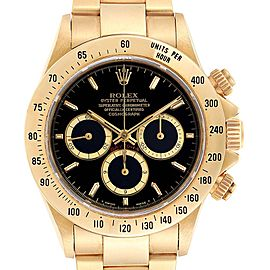 Rolex Cosmograph Daytona Yellow Gold Chronograph Mens Watch 16528
