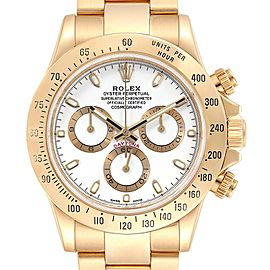 Rolex Cosmograph Daytona Yellow Gold White Dial Mens Watch 116528