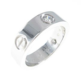 Cartier 18K White Gold Love Half Diamond ring TkM-119
