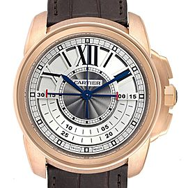 Cartier Calibre Central Chronograph Rose Gold Mens Watch W7100004