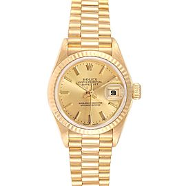 Rolex President Datejust 26mm Yellow Gold Ladies Watch 79178 Box Papers