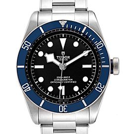 Tudor Heritage Black Bay Blue Bezel Steel Watch 79230B Box Papers