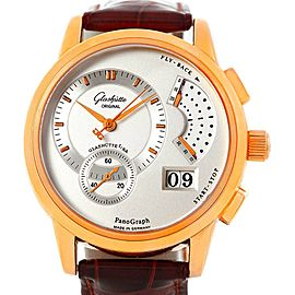 Glashutte PanoGraph Manual 18K Rose Gold Watch 61-03-25-15-04