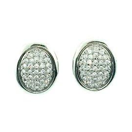 900 Platinum 1.20ctw Diamond Earrings
