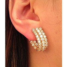 18K Yellow Gold 5.70ctw Diamond Hoop Earrings
