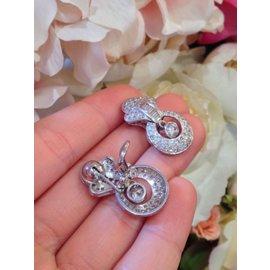 850 Platinum 4.00ctw Diamond Drop Earrings