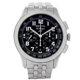 Zenith 02-05004-20 El Primero Stainless Steel Mens Watch