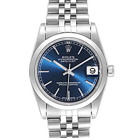 Rolex Datejust 31 Midsize Blue Dial Steel Ladies Watch 78240
