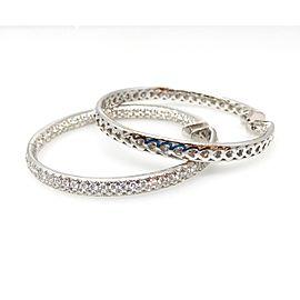 Odelia 18K White Gold 6.50ctw Diamond Hoop Earrings