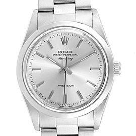 Rolex Air King 34mm Silver Dial Oyster Bracelet Steel Mens Watch 14000