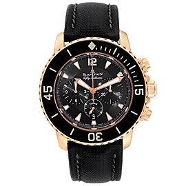 Blancpain Fifty Fathoms Flyback Rose Gold Chronograph Mens Watch 5085F