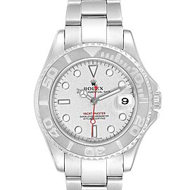 Rolex Yachtmaster 35 Midsize Steel Platinum Unisex Watch 168622